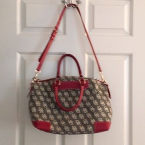 Dooney and Bourke gray & red pocketbook
